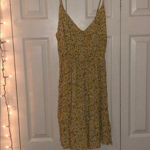 Yellow daisy thin strap dress